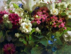 "Garden Flowers by Daniel Keys Oil ~ 16"" x 20"""