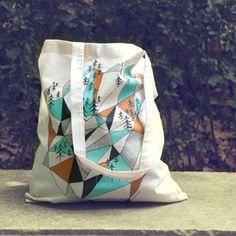 tote bag Geometric mountains