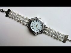 Learn how to make beaded watch bands. - YouTube