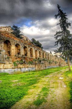 Under the Acropolis alley, Athens, Greece