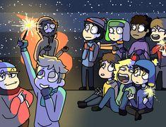 South Park - Waiting for New Year by KeiArubino.deviantart.com on @DeviantArt