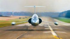 F-104, head on, jet, low pass