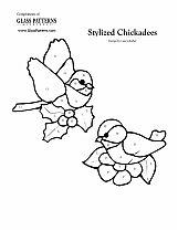 glass pattern Chickadees