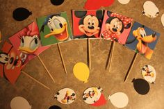Mickey Mouse Clubhouse Cupcake/Appetizer Toppers by AbbaGee, $3.00