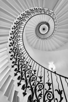 The Queen's House Tulip Staircase, London - Limited Edition Print, Black & white photograph (Giclée) by Ben Robson Hull | Artfinder