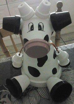 Terracotta pot cow