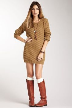 American Vintage Chunky Pullover Sweater Dress by Fall Trend on @HauteLook