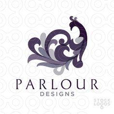 parlor interior design logo by NancyCarterDesign