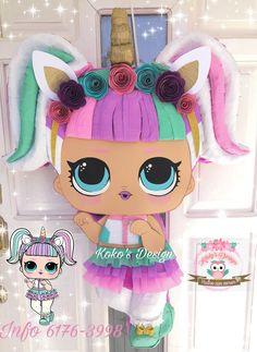 Unicorn Pinata, Unicorn Party, Unicorn Birthday, Baby Girl Birthday, 10th Birthday, Diy Birthday, Lol Doll Cake, Doll Shoe Patterns, Lol Dolls