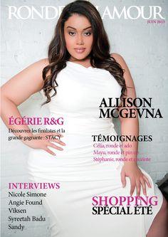 #cover #magazine #ronde #glamour #plussize #Allison #McGevna