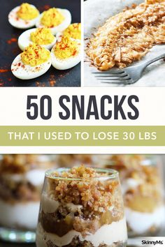 50 Snacks That I Used to Lose 30 Pounds - Diet Recipes Weight Loss Snacks, Weight Loss Drinks, Weight Loss Meal Plan, Fast Weight Loss, How To Lose Weight Fast, Detox Water To Lose Weight, Weight Loss Program, Weight Loss Tips, Clean Eating Recipes