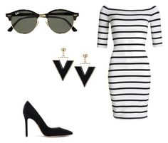"""Untitled #42"" by erikaelena23 on Polyvore featuring Superdry, Gianvito Rossi and Ray-Ban"