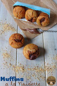 Goulucieusement: Muffins Noisette & coeur Nutella.