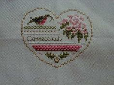 Stitched Connecticut Heart