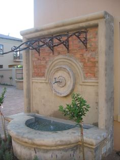 Fountain by Garden Bleu