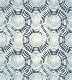 Connected circles seamless pattern. Royalty Free Stock Vector Art Illustration