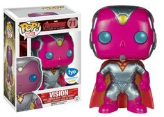 The Avengers Age of Ultra Metallic Vision Pop figure by Funko, exclusive to FYE
