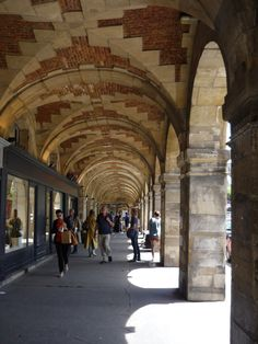 Brick and stone arcade with shops in Paris. Renew My Passport, Paris Shopping, Brick And Stone, Arcade, My Photos, Germany, Shops, Street View
