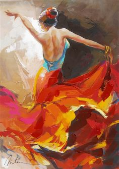 """Flamenco Dancer"" Anatoly Metlan - Park West Gallery"