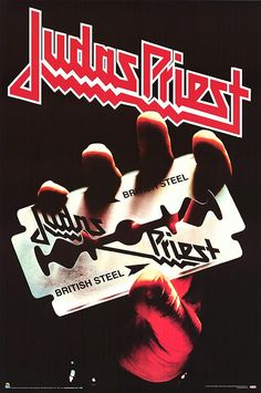 Judas Priest - British Steel music CD album at CD Universe, The guitar riff from Breaking the Law is one of the most recognizable from early heavy metal, Though. Greatest Album Covers, Rock Album Covers, Classic Album Covers, Rock N Roll, Pop Rock, Storm Thorgerson, Heavy Metal Music, Heavy Metal Bands, Heavy Metal Girl