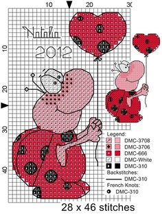 quilting like crazy Just Cross Stitch, Cross Stitch Heart, Cross Stitch Cards, Cross Stitch Animals, Modern Cross Stitch, Cross Stitch Designs, Cross Stitching, Cross Stitch Embroidery, Embroidery Patterns