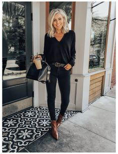Mode Outfits, Jean Outfits, Casual Outfits, Fashion Outfits, Fashion Ideas, Dress Casual, Fashion Tips, Fashion Trends, Look Casual Otoño
