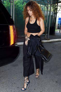 Black crop top black culottes @jojorulez