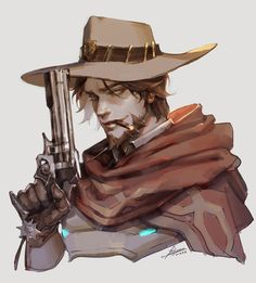 ArtStation - overwatch Mccree fanart, pil yeon