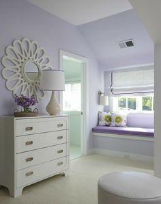 Lilac Bedroom, Bedroom Decor, Mirror Bedroom, Bedroom Ideas, Lilac Walls, Girl Bedroom Paint, Girls Bedroom Purple, Lavender Bedrooms, Paint Colors Bedroom Teen