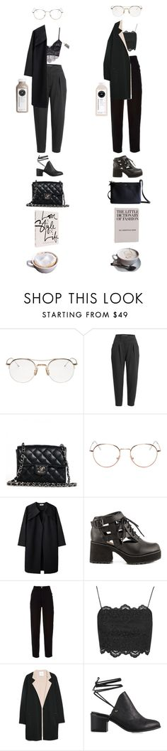 """""""Untitled #935"""" by jayda-xx ❤ liked on Polyvore featuring Thom Browne, L'Agence, CÉLINE, Chanel, RetroSuperFuture, A Détacher, Shellys, Topshop, MANGO and Nly Shoes"""