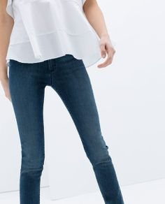 ROMWE Distressed Dark Blue Deinm Pants