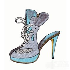 Free Machine Embroidery Designs, Embroidery Patterns, Nancy Notions, Shoe Art, Sewing Notions, Shoe Boots, Shoes, Tennis, High Heels
