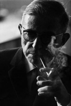 Marc Riboud FRANCE. Paris. 1964. French writer and philosopher Jean-Paul SARTRE.