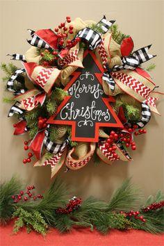 the Merry Christmas wreath