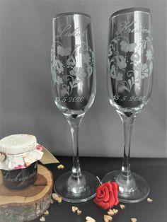 Hand engraved wedding glasses. Glass Engraving, Hand Engraving, Wedding Glasses, Wine Glass, Folk, Handmade, Hand Made, Popular, Forks