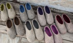 Wooppers DUAL NATURAL collection. Woolen felted slippers made without seems.