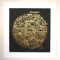 Commonwealth Games Auction  - Commemorative Gold Glasgow 2014 Papercut . Signed by Christine J Thomson, The Papercut Artist and SIR CHRIS HOY. 14 only - exclsively available through the auction.
