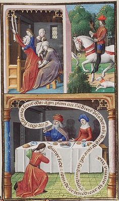 Genesis 25: Jacob takes his brother by the heel » Genesis 25 – Birth of Esau and Jacob as an example of twin's fate against the arguments of astrology by Francois Maitre c1475-1480