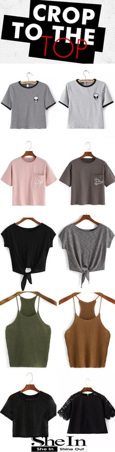 Crop to the Top from SheIn   Low Price High Quality from US$7.99