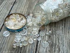 pretty glass buttons