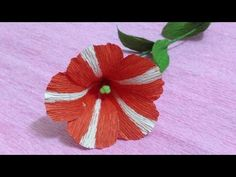 Paper Flowers Primula (flower #126) - YouTube