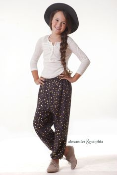 The Nellie Pant - love these parachute pants for girls!