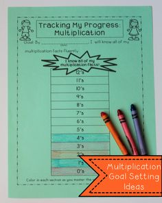 Multiplication Goal Setting Printable and other math goal setting ideas - great for data tracking and student led conferences!