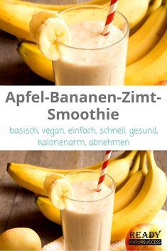 Apfel-Bananen-Zimt-Smoothie Apple-banana-cinnamon smoothie - not only vegan but also basic. Smoothie Fruit, Smoothie Prep, Smoothie Bowl, Smoothie Recipes, Detox Recipes, Healthy Smoothies, Snacks Sains, Dieta Paleo, Crunches