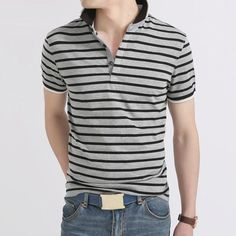 HEE GRAND 2017 Classic Strip Mature Business Men Polos Casual Leisure Simple Style Male Top Tees MTP363