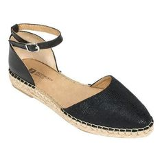 Women's White Mountain Cave In Flatform Espadrille Black Fabric