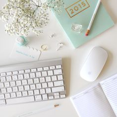 mint x white work space