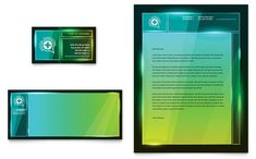 Medical Conference Business Card and Letterhead Template Design by StockLayouts