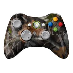 XBOX 360 controller Wireless Glossy Custom Painted- Without Mods Xbox 360 Controller, Custom Paint, Console, Camo, Camouflage, Military Camouflage, Roman Consul, Consoles