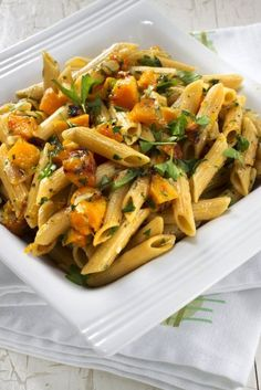 Yum! This butternut squash pasta looks delicious.